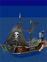 Skewering Pirate Ship